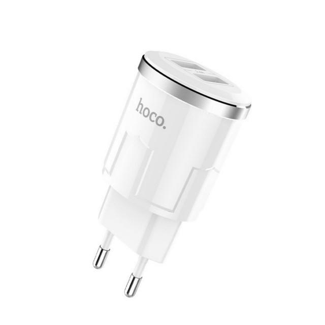СЗУ Hoco C38A Thunder power dual port charger(EU) 2USB 2.4A White