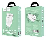 СЗУ Hoco C38A Thunder power dual port charger(EU) 2USB 2.4A White, фото 2