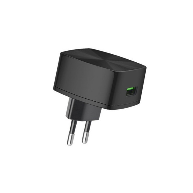 СЗУ Hoco C26 Mighty power QC3.0 single-port charger(EU) 1USB 3A Black