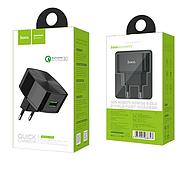 СЗУ Hoco C26 Mighty power QC3.0 single-port charger(EU) 1USB 3A Black, фото 2