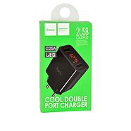 СЗУ Hoco C25A Cool double port charger(EU) 2USB 2.2A Black, фото 2