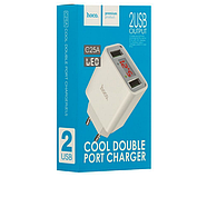 СЗУ Hoco C25A Cool double port charger(EU) 2USB 2.2A White, фото 2