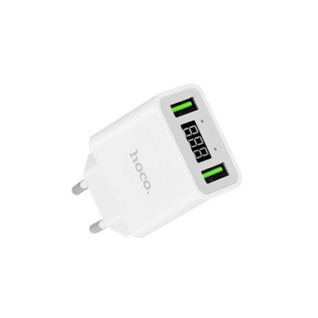 СЗУ Hoco C25A Cool double port charger(EU) 2USB 2.2A White