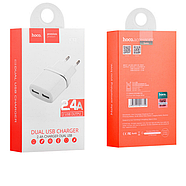 СЗУ Hoco C12 Smart dual USB charger(EU) 2USB 2.4 A White, фото 2