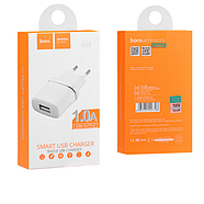 СЗУ Hoco C11 Smart single USB charger(EU) 1USB 1A White, фото 2