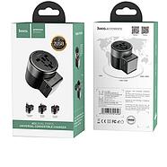 СЗУ Hoco AC4 Dual port rotating charging universal converter 2USB 2.4A Black, фото 2