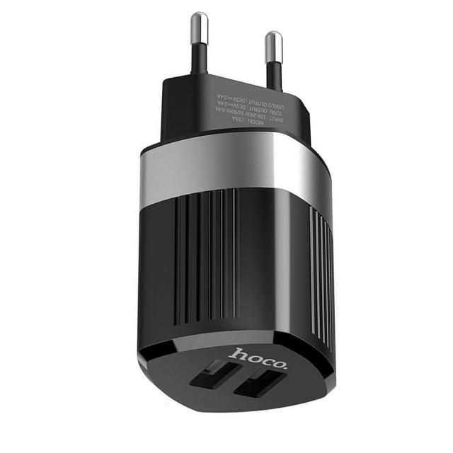 СЗУ Hoco C55A Energy dual port charger(EU) Black