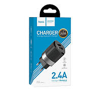 СЗУ Hoco C55A Energy dual port charger(EU) Black, фото 2