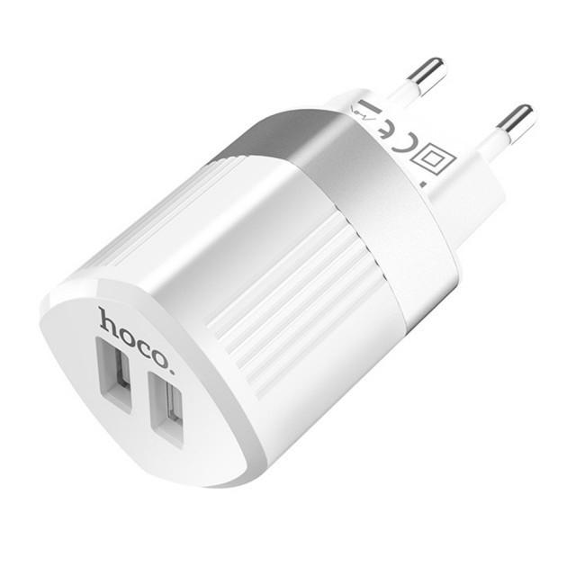 СЗУ Hoco C55A Energy dual port charger(EU) White