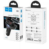 Зарядка для авто Hoco E41 In-car audio wireless FM transmitter Black, фото 2