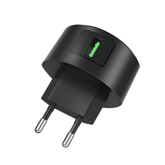 СЗУ Hoco C68A Shell single port QC3.0 charger(EU) Black