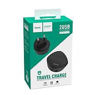 СЗУ Hoco C67A Shell dual port charger(EU) 2.4A Black, фото 2