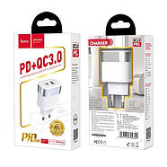 СЗУ Hoco C58A Prominent PD+QC3.0 charger(EU) 2USB 3A White, фото 2