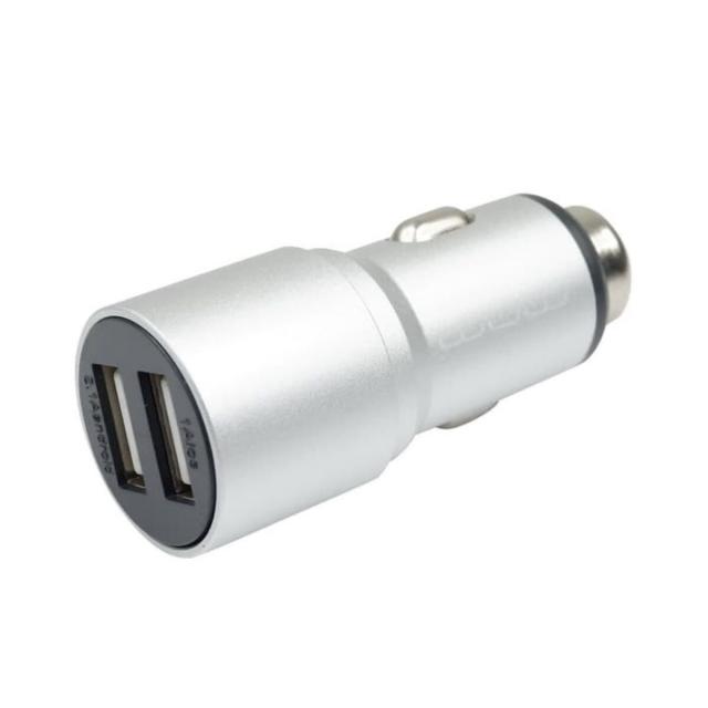 Зарядка для авто WUW C87 Quick Charge 2USB 2.1A Silver