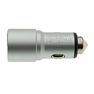 Зарядка для авто WUW C87 Quick Charge 2USB 2.1A Silver, фото 2