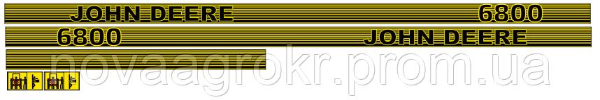 Комплект наклеек на трактор John Deere 6800