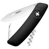 Нож складной, мультитул Swiza D01 (95мм, 6 функций), черный KNI.0010.1010