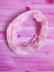 """Хомут, снуд женский """"Пайетки"""" цвет розовый"""