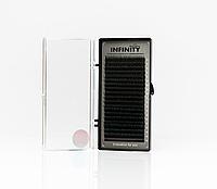 Ресницы INFINITY Ombre (зелёные кончики)   L 0.07 Mix 8-13, фото 1