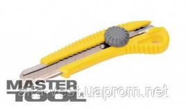 MasterTool  Нож 18 мм ABS пластик с металлической направляющей  винтовой замок, Арт.: 17-0328