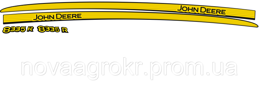 Комплект наклеек на трактор John Deere 8335R