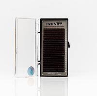 Вії INFINITY Ombre (коричневі кінчики) L 0.07 Mix 8-13, фото 1
