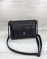 Стильная сумка  Rika черная рептилия, фото 1