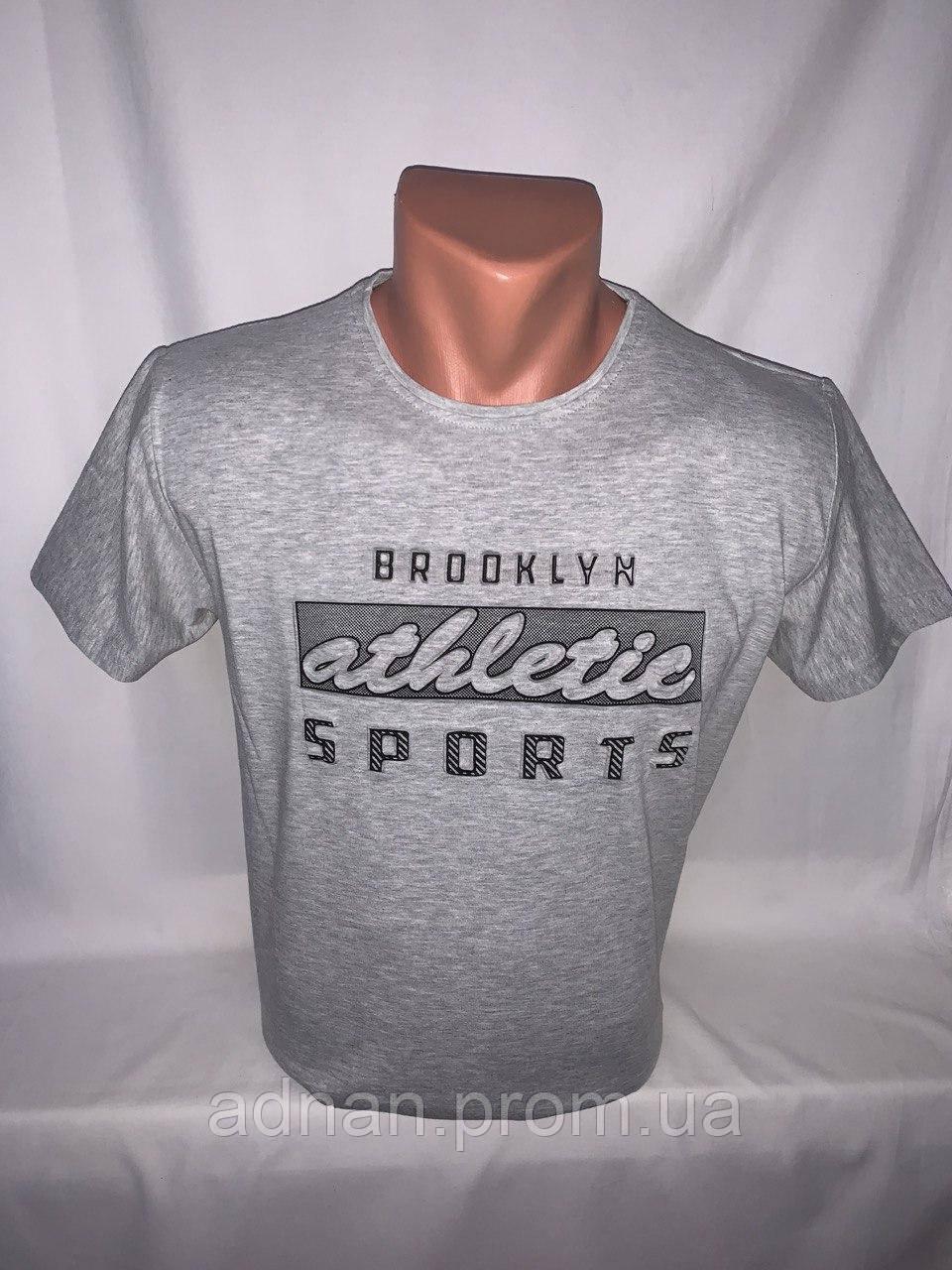 Футболка мужская RBS, накатка стрейч коттон ATHLETIC 008 \ купить футболку мужскую оптом