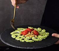 Блюдо для подачи 30 см; круг., натур., сланец