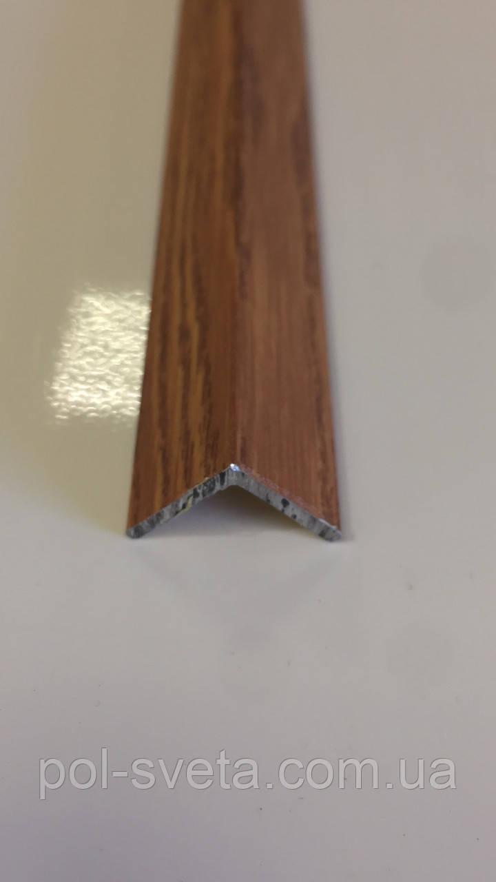 Декоративний алюмінієвий куточок 15х15 Фиам темний