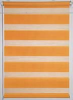 Готовые рулонные шторы Ткань ВН DN-205 Оранжевый 1100*1600