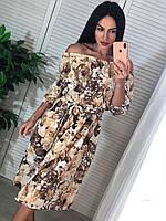 Летнее платье с открытыми плечиками, фото 1