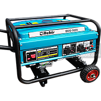 Бензогенератор однофазний 3 кВт, Rebir BEG 3000, електрогенератор, бензиновий генератор, мініелектростанція
