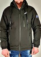 Мужская стильная демисезонная куртка  прямая черная.