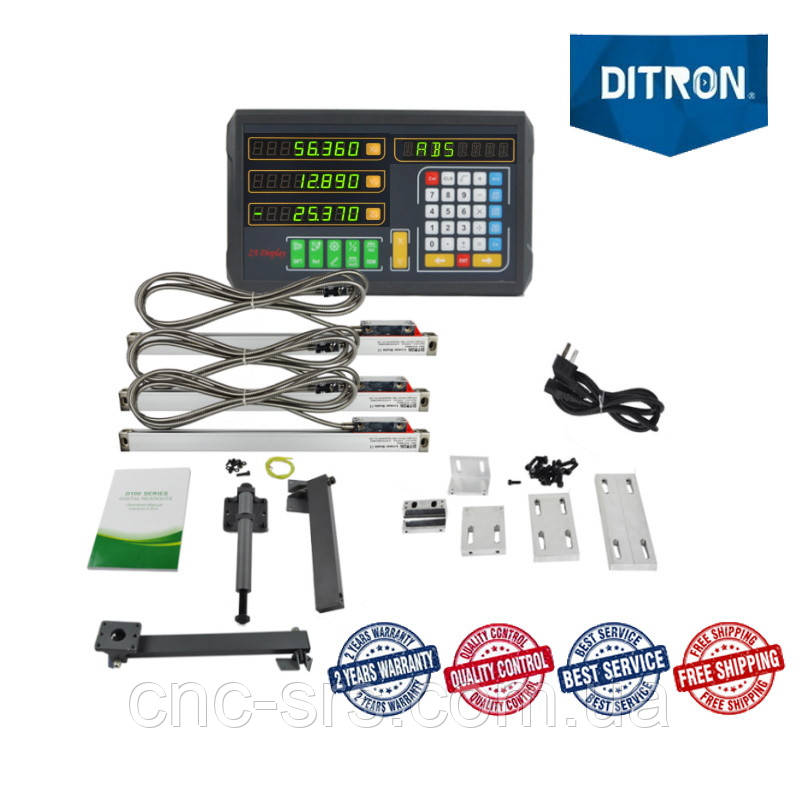 1К62 (РМЦ 710 мм) комплект линеек и УЦИ Ditron на 3 оси, D100-3, 1 мкм.