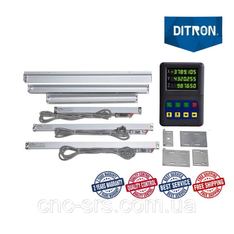 1К62, 3 оси, РМЦ 710 мм, 1мкм., комплект линеек и УЦИ Ditron на токарный станок