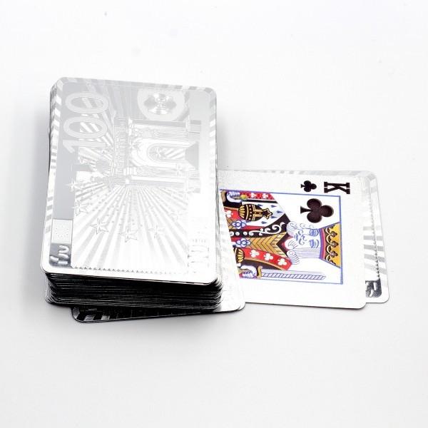 Игральные карты с серебристым покрытием Invotis Euro (GG220)