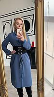 Платье-рубашка с шифона женское