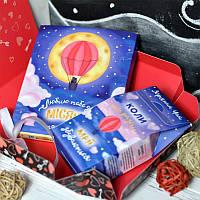 Подарочный набор Люблю до місяця шоколад и чай 2в1, фото 1