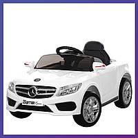 Детский электромобиль Mercedes с пультом Bambi M 2772 EBLR-1 белый | Дитячий електромобіль Бембі білий