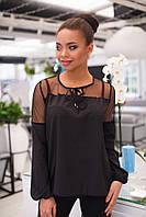 Женская яркая блузка на резинке с длинным рукавом, фото 1
