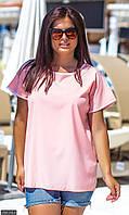 Футболка женская большого размера 850180-4 розовый
