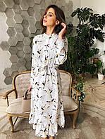 Женское весеннее платье в красивейших принтах,размеры(42-44 и 44-46)