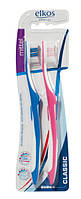 Зубная щетка средней жесткости elkos Classic  Мittel 2 шт.