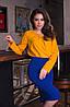 Женская стильная шифоновая блуза с брошью и длинным рукавом