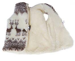 Детская жилетка из овчины Sheepskin Олени Размер 1, фото 3