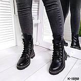 Зак, замш, кожа! Стильные демисезонные ботинки женские на декорированной подошве, фото 3