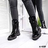 Зак, замш, кожа! Стильные демисезонные ботинки женские на декорированной подошве, фото 9