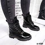 Зак, замш, кожа! Стильные демисезонные ботинки женские на декорированной подошве, фото 10