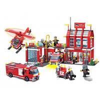 """Детский конструктор """"Пожарная часть с техникой"""" Brick 911 980дет"""